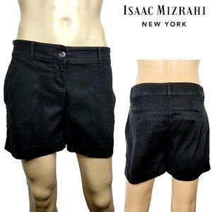 Isaac Mizrahi New York Black Shorts Sz 10